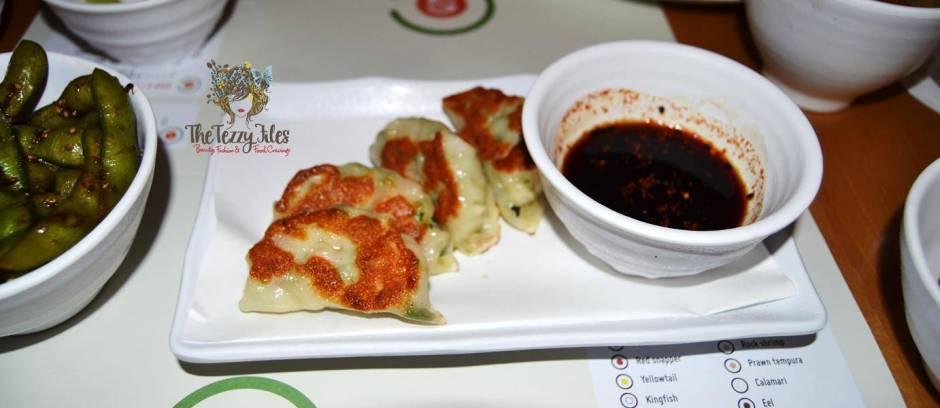 Chez Sushi review Dubai food blog mochi sushi wasabi chopstick training edamame tempura katsu curry (5)