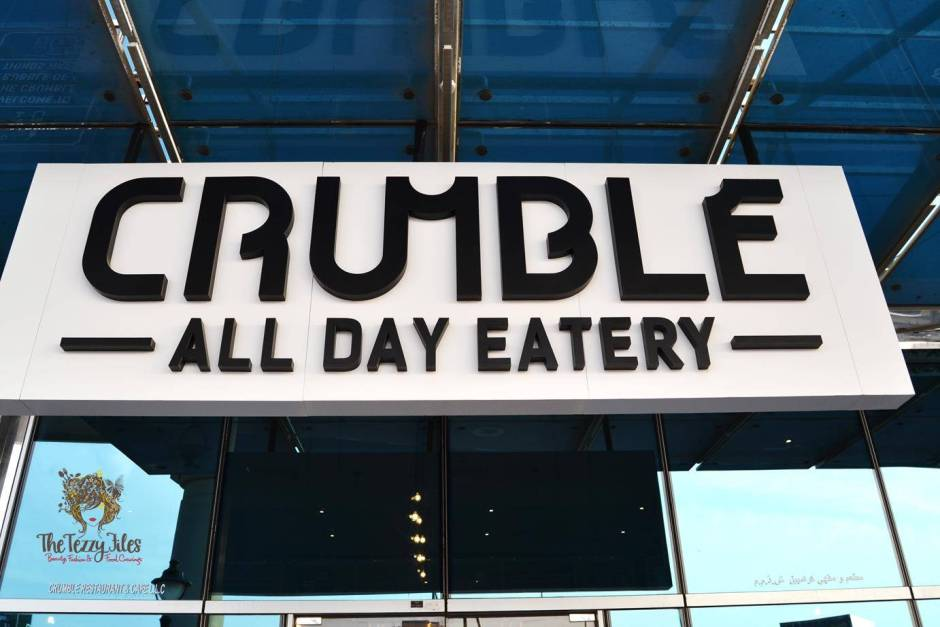 Crumble Cafe All Day Eatery review Dubai food blog blogger zomato (22)