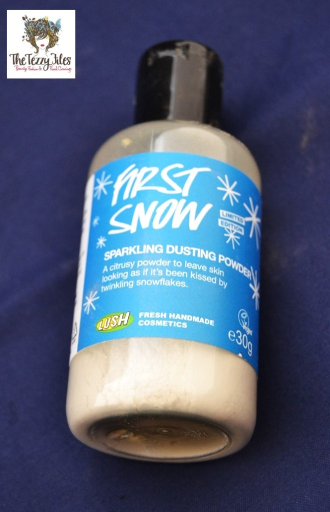 First Snow Sparkling Dusting Powder Lush Review