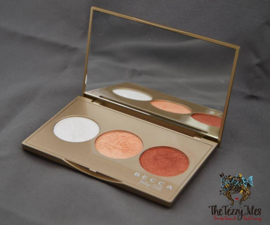 Becca by Jaclyn Hill Shimmering Skin Perfecter Pearl Champagne Pop Blushed Copper Review trio palette (1)