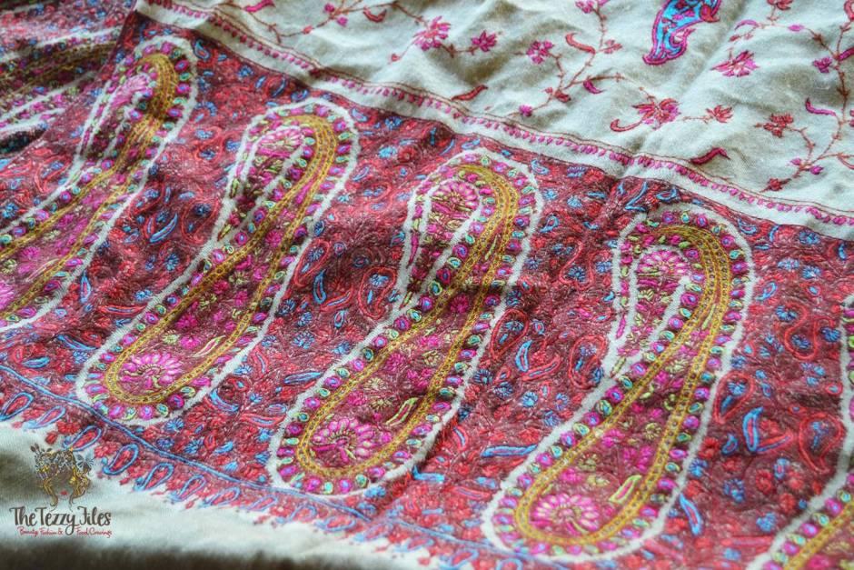 pashmina kashmiri shawl embroidered how to tell genuine pashima from a fake (4)