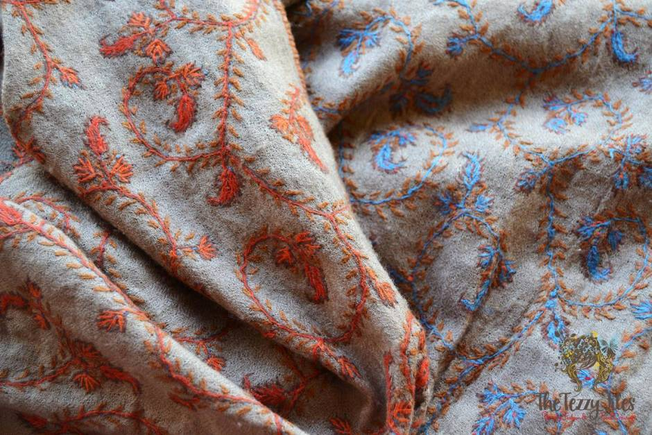 pashmina kashmiri shawl embroidered how to tell genuine pashima from a fake (5)