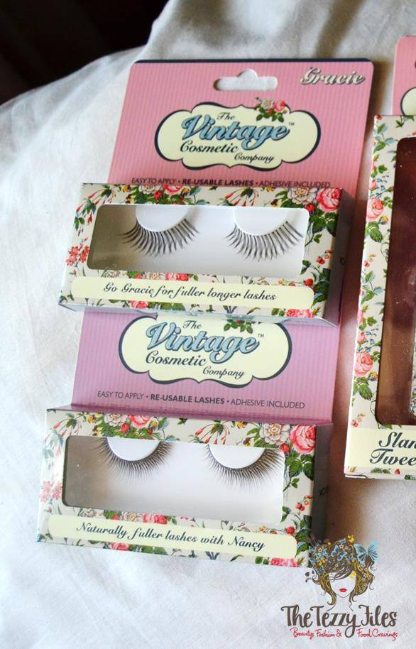 the vintage cosmetic company fake eyelashes review