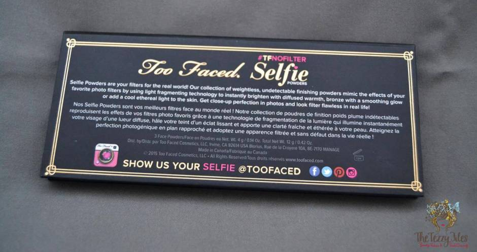 too faced no filter selfie #TFNoFilter Selfie Powders review