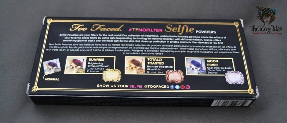 too faced no filter selfie #TFNoFilter Selfie Powders review3