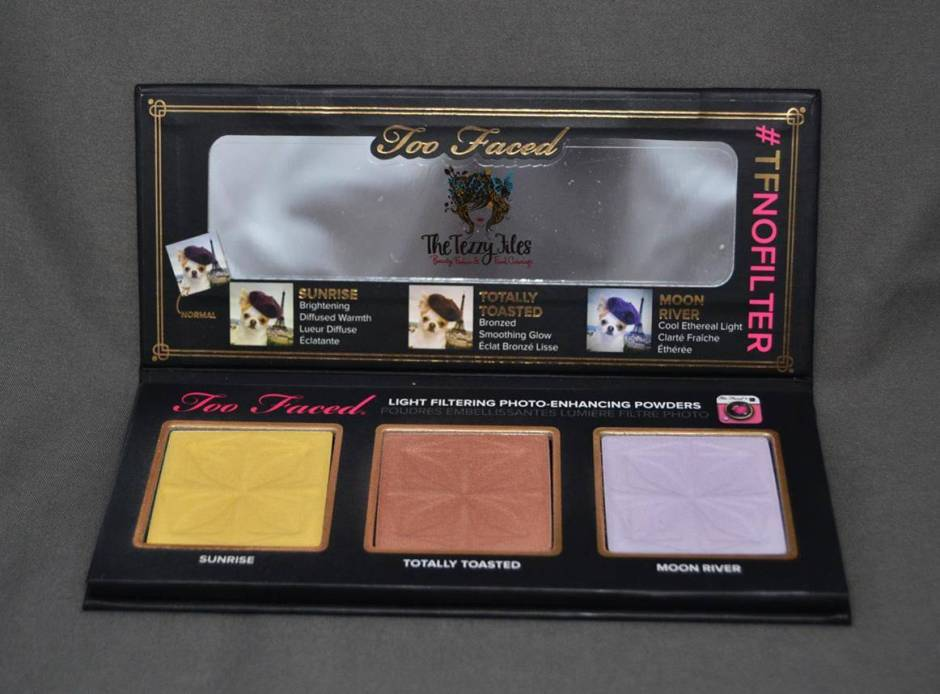 too faced no filter selfie #TFNoFilter Selfie Powders review5