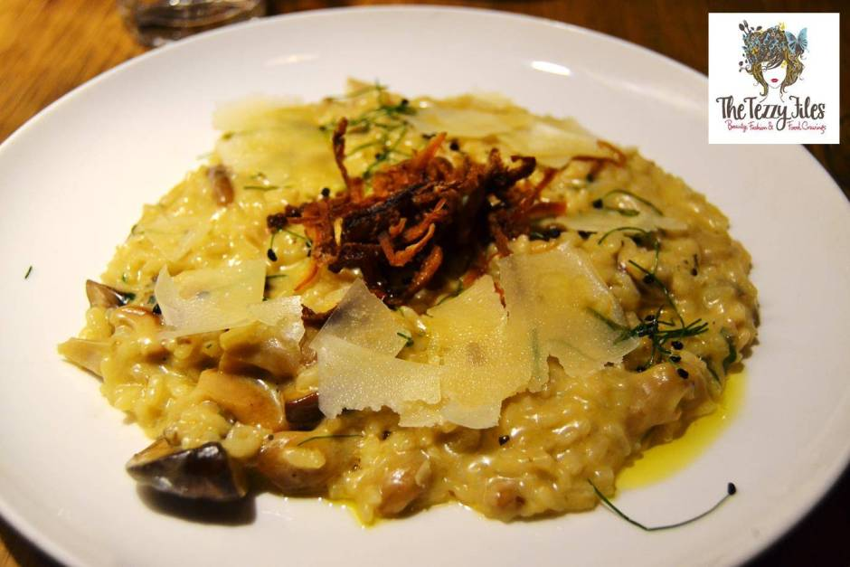 tribeca mushroom risotto review dubai