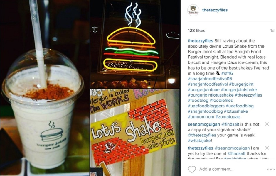 burger joint dubai uae lotus shake review the tezzy files blog