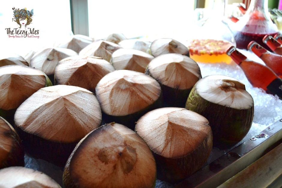 fresh coconut water at thiptara downtown dubai