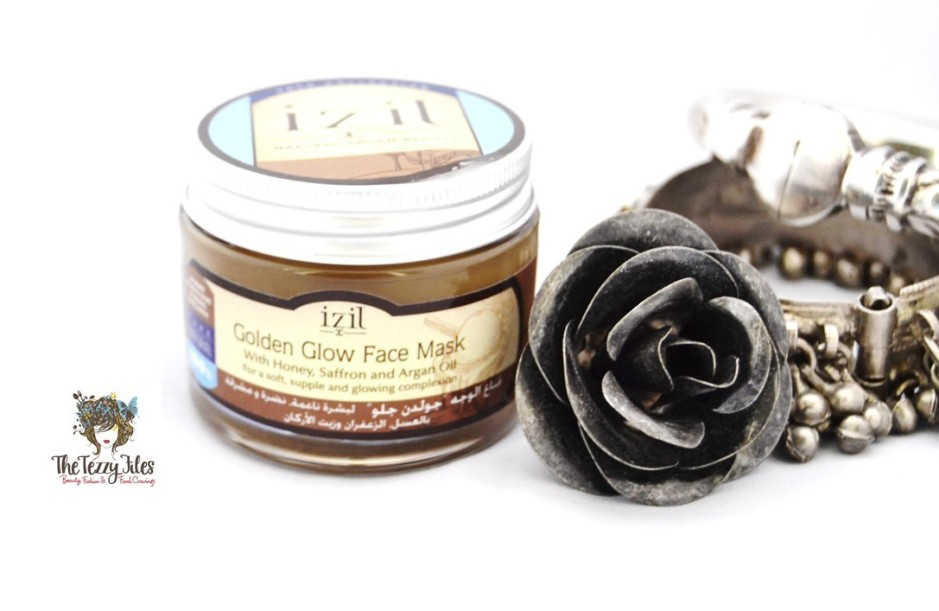 Izil Golden Glow Face Mask with honey saffron and argan oil natural beauty from Morrocco reviewed by The Tezzy Files UAE beauty blogger (1)