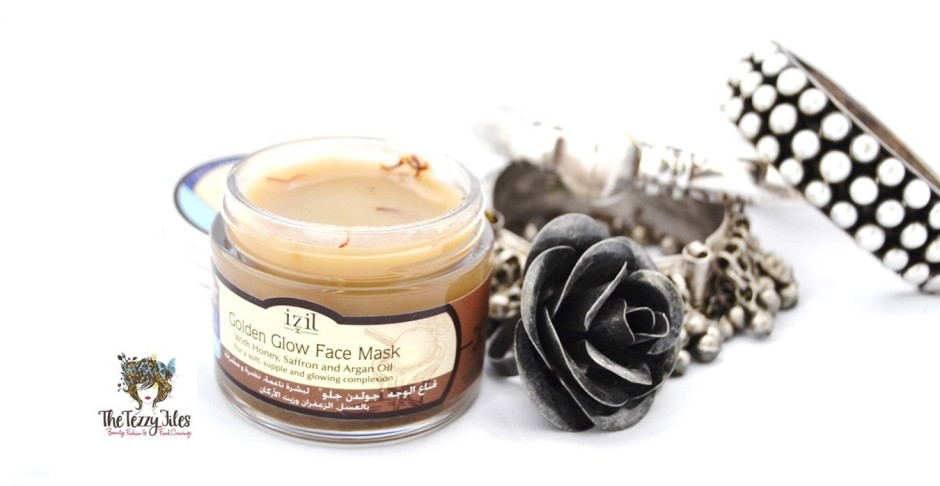 Izil Golden Glow Face Mask with honey saffron and argan oil natural beauty from Morrocco reviewed by The Tezzy Files UAE beauty blogger (2)