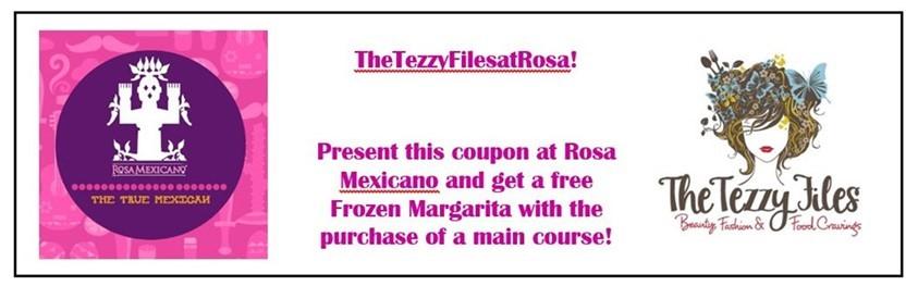 rosa mexicano free margarita voucher