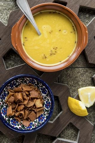 Cumin scented lentil soup