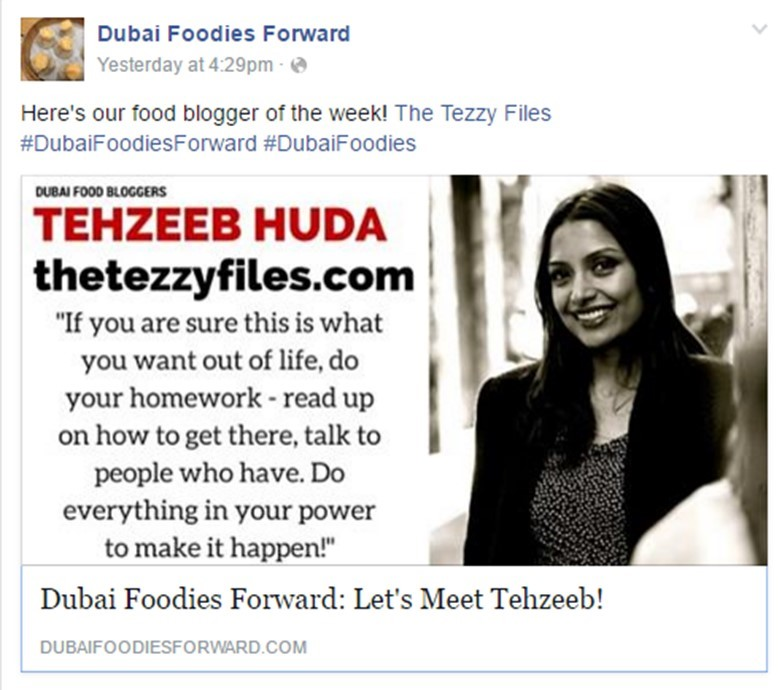 dubai foodies forward coverage