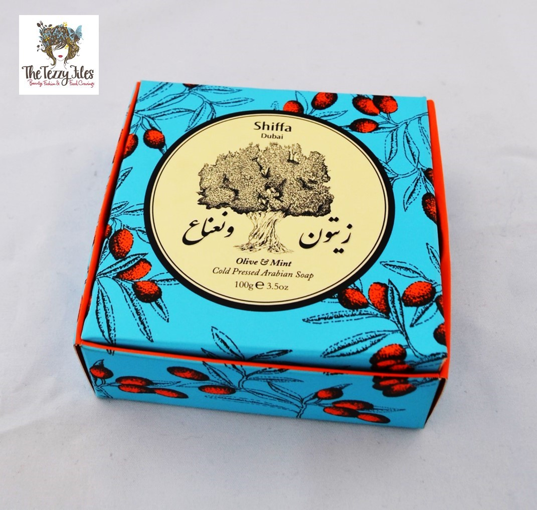 Shiffa Olive and Mint Cold Pressed Arabian Soap review by The Tezzy Files Dubai Beauty Blogger (2)
