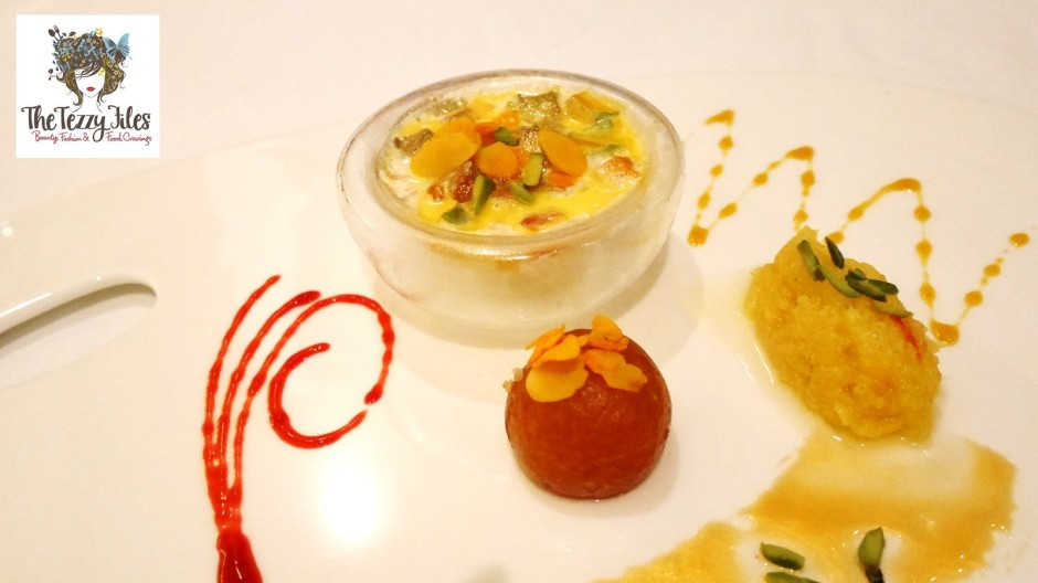 Ananta Iftar desserts gulab jamun halwa fruits cup indian fine dining review by the tezzy files dubai food blog