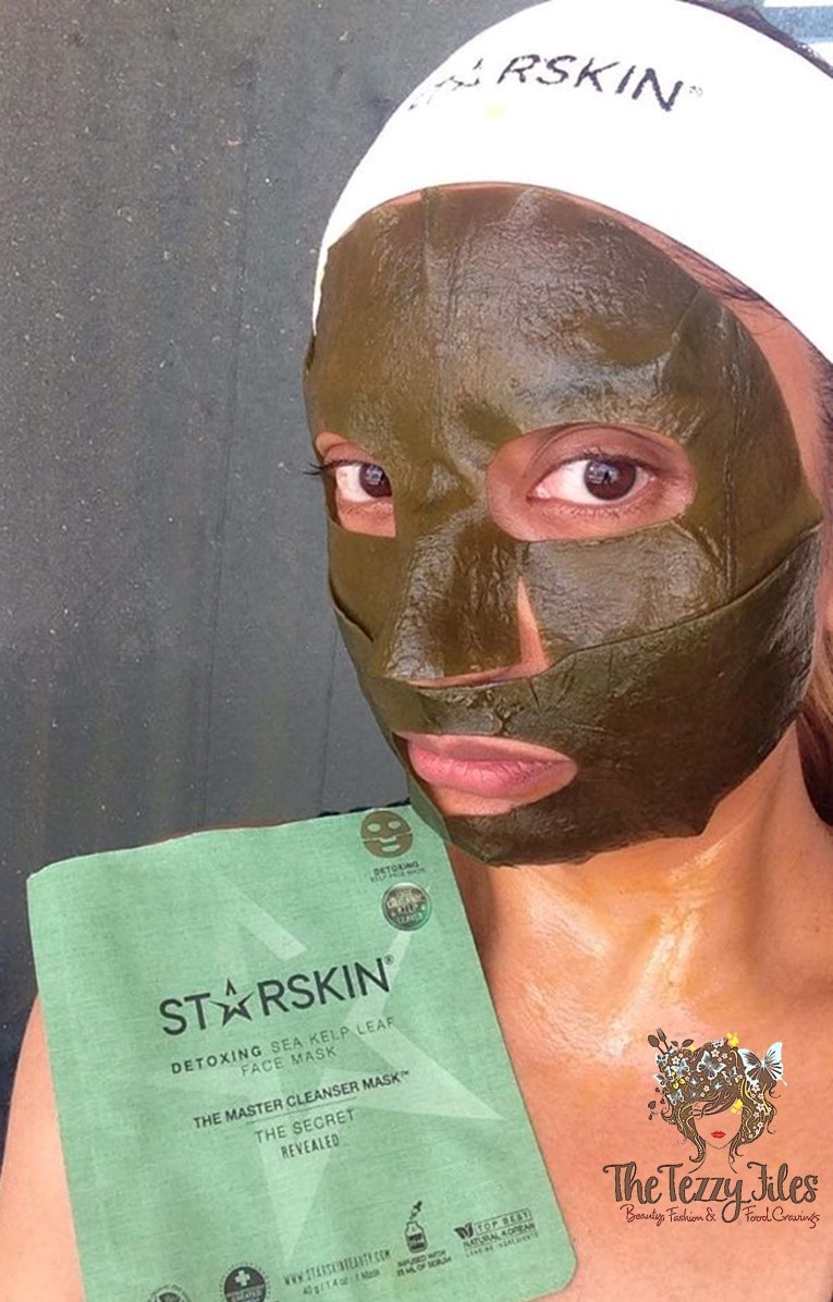 Starskin Master Cleanser Detox Sea Kelp Leaf Face Mask Review by The Tezzy Files Dubai Beauty Blogger Sephora Middle East Skincare