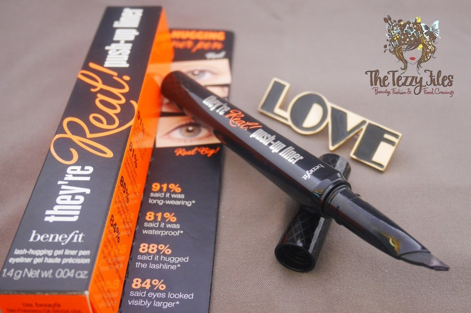 Benefit Cosmetics They're Real Push Up Liner review by The Tezzy Files Dubai Beauty Blog Sephora Middle East bblog eyeliner blackest black easy application eye makeup tutorial.jpg