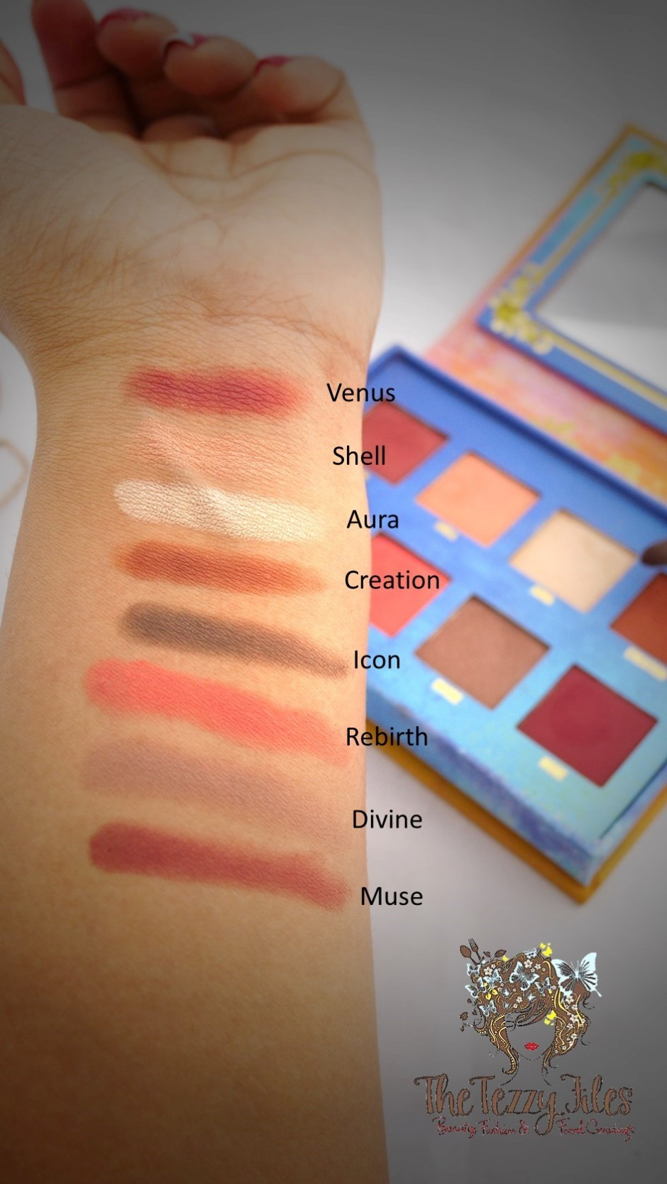 Lime Crime Venus Palette Review Swatches Dubai Beauty Blog UAE Blogger The Tezzy Files Beauty Review Cosmetics Makeup Palette Eye Shadows Sephora Middle East