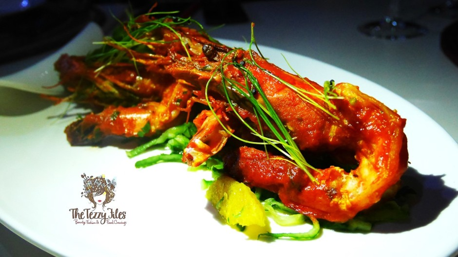 KIZA Dubai DIFC African Fine Dining Review The Tezzy Files Dubai Food Bogger Lifestyle Blog UAE African Fashion Ntombi Couture Peri Peri Prawns.jpg