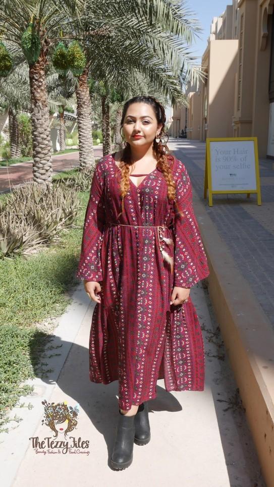 Blowout Bar Salon Shein Dress Review Fashion Blog The Tezzy Files Dubai Fashion Blog Khaleesi Style Braids Boho Bohemian Girls (4)