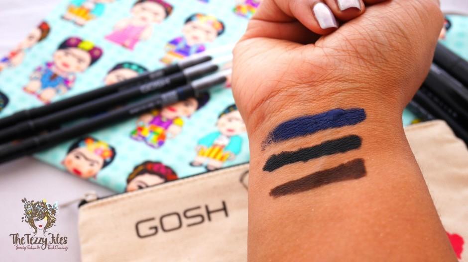 GOSH Infinity Eye Liner Review Dubai Beauty Makeup Cosmetics Blog The Tezzy Files swatches GoshArabia (2)