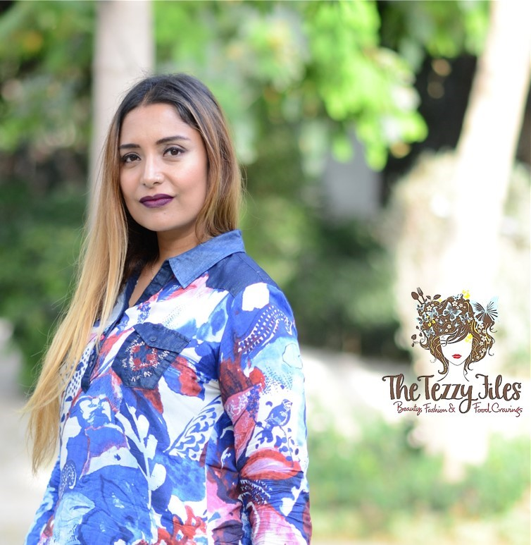 Desigual Dubai Fashion Blog The Tezzy Files UAE Lifestyle blog fashionista look of the day award winning best blogger uae photo shoot the farm al barari blue denim jeans what to wear (9
