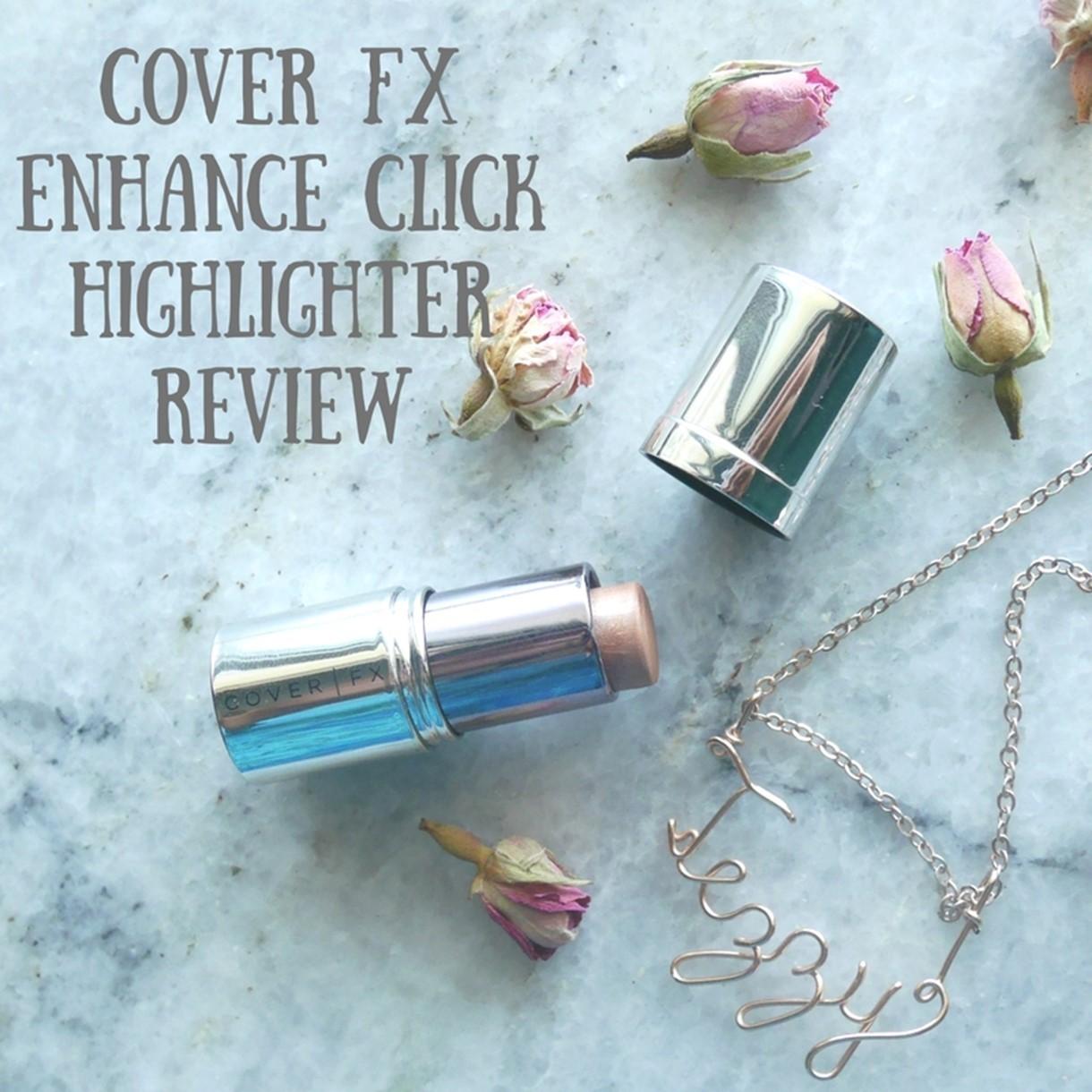 Cover FX Enhance Click Cream Enhancer Rose Gold Highlighter Review Dubai Beauty Blog Sephora Middle East Highlighter Strobing