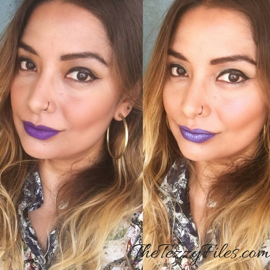 Kat Von D Alchemist Holographic Palette Review Dubai Beauty Blog Sephora Middle East The Tezzy Files UAE Blogger Swatches lipstick highlighter purple lips amethyst