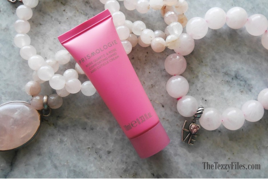 Prismologie Kuwait Beauty healing gemstones beauty wellness blog dubai blogger uae rose quartz hand cream rose beauty