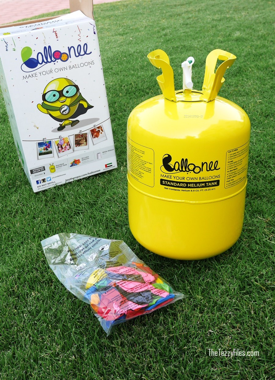 Balloonee Brothers Gas Helium Balloon Kit DIY Party Birthday Child Blogger UAE Dubai The Tezzy Files (7)