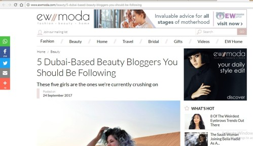 dubai top 5 beauty bloggers uae bloggers press media coverage ew moda the tezzy files kiwi indian new zealand blogger middle east.jpg