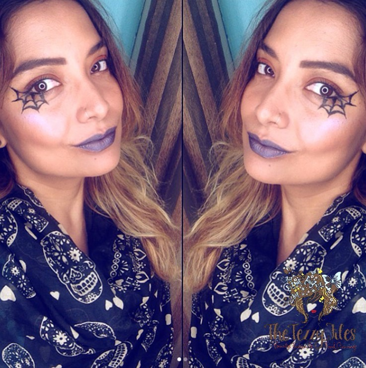 Quick and Easy Last Minute Halloween Makeup (The Cobweb Eye