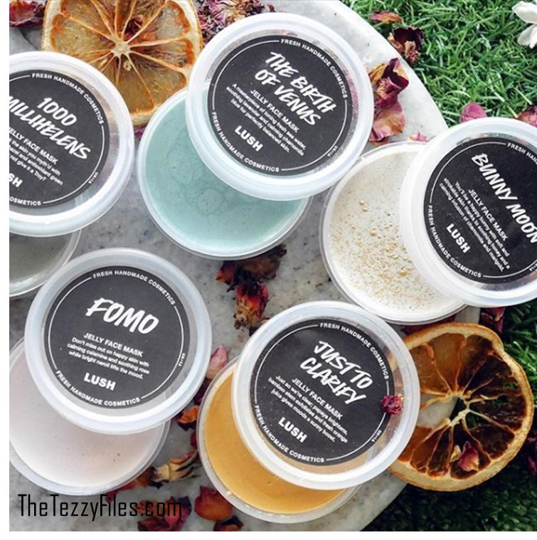 Lush Jelly Masks Review The Birth of Venus Bunny Moon Just to Clarify FOMO 1000 MilliHelens 5 masks natural beauty skincare blog dubai uae blogger Lush Middle East The Tezzy Files beauty blog.jpg