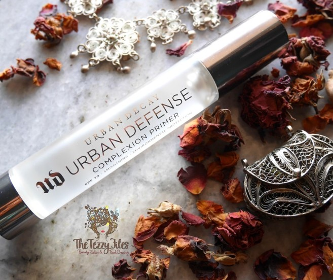 Urban Decay Urban Defense Complexion Primer SPF 30 Review Sephora Middle East Dubai Beauty Makeup Bog The Tezzy Files Blogger UAE Lifestyle primer tutorial.jpg