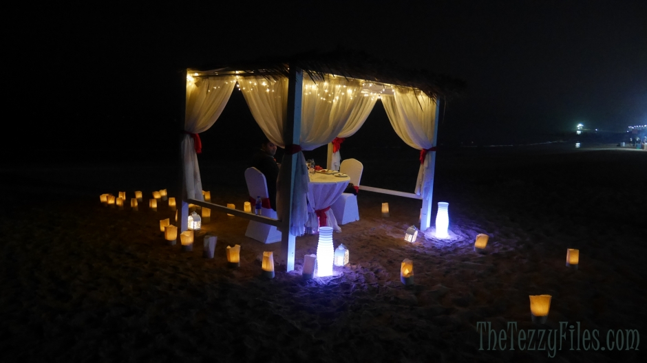 Bin Majid Beach Hotel review cabana romantic dinner on the beach dubai food fashion blog ras al khaimah rak (20)