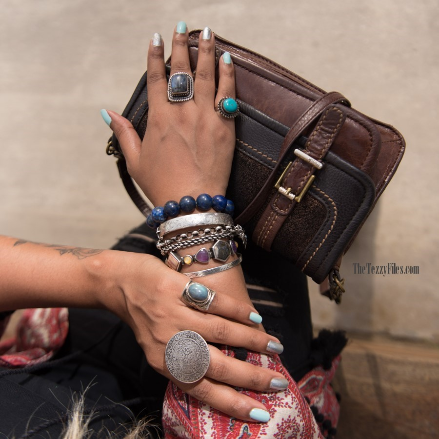 boho style jewelry antique silver hand bling leather dubai fashion bohemian boho fashion (1)