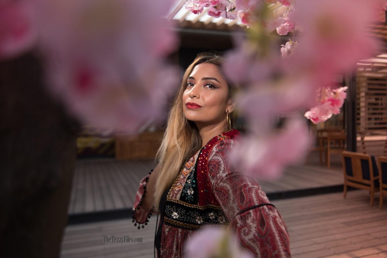 Dubai Fashion Blog Fashionista Blogger La Mer Dubai UAE influencer Middle East Zara Tribal Jacket Gypsy Style Beauty Fashion Shoot (6)