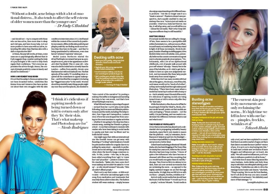 The Tezzy Files Beauty Blogger Pimple Positivity Dubai UAE Wknd Magazine Khaleej Times2